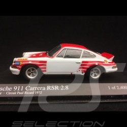 Porsche 911 Carrera RSR 2.8 Test Car Paul Ricard Track 1972 1/43 Minichamps 430726990