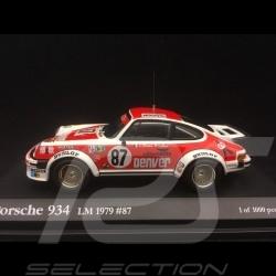 Porsche 934 n° 87 Le Mans 1979 1/43 Kyosho R002002