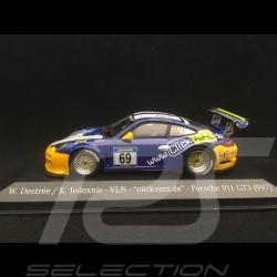 Porsche 911 type 997 GT3 n° 69 VLN Championship 1/43 Minichamps 413138969