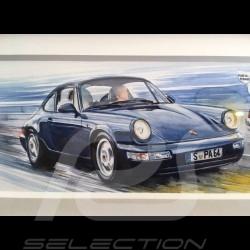 Porsche 964 Carrera et RSR Martini wood frame alu 15 x 35 cm Limited edition Uli Ehret - 750