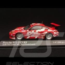 Porsche 911 typ 996 GT3 RS ALMS Petit Le Mans 2003 n° 89 1/43 Minichamps 400036989