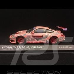 Porsche 911 type 996 GT3 RS n° 45 'Pink Sally' Phoenix 250 2004 1/43 Minichamps 400046945