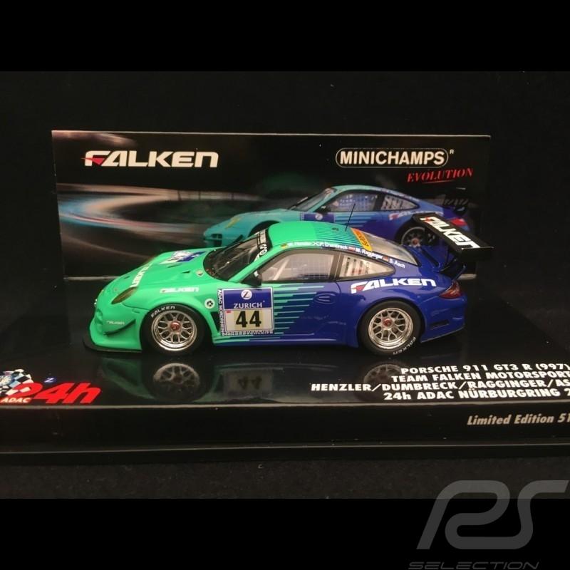 Porsche 911 typ 997 GT3 R ADAC Nürburgring 2011 n° 44  1/43 Minichamps 437116144