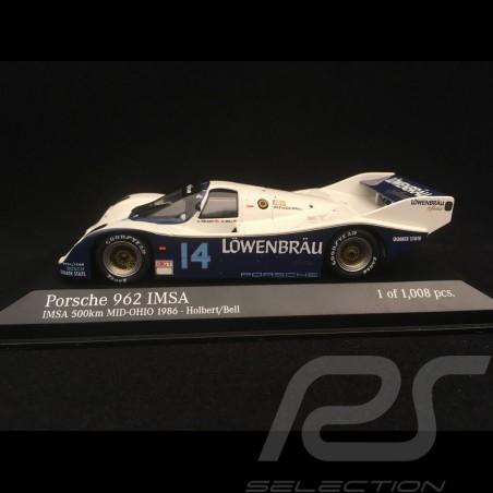 Porsche 962 Sieger IMSA Mid-Ohio 1986 n° 14 1/43 Minichamps 400866514