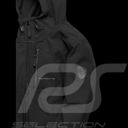 Porsche hoodie Jacket Softshell windbreaker Black Porsche WAP516H - men