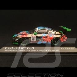 Porsche 911 type 997 GT3 Cup S Vainqueur GT3 Asia Challenge 2009 n°33 1/43 Minichamps 400097933