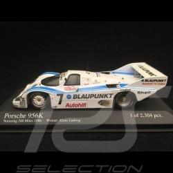 Porsche 956 K Vainqueur winner sieger Norisring 1986 n° 7 Blaupunkt 1/43 Minichamps 430866607