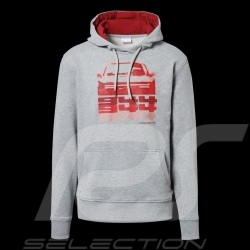 Porsche Hoodie 944 Collection grey / red Porsche Design WAP423K - men