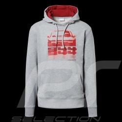 Sweatshirt à capuche Porsche 944 Collection hoodie gris / rouge Porsche Design WAP423K Kapuzenpullover homme men herren