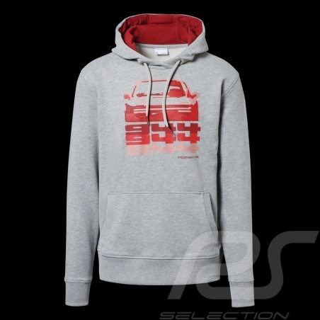 Porsche Kapuzenpullover 944 Collection hoodie grau / rot Porsche Design WAP423K - Herren