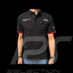 Porsche Motorsport Hugo Boss Polo shirt black Porsche Design WAP432LMS - men