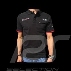 Porsche Motorsport Hugo Boss Polo shirt black Porsche Design WAP432LMS - men