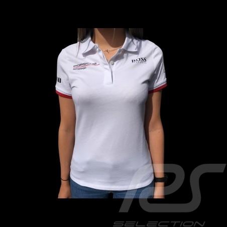 Porsche Motorsport Hugo Boss Polo shirt white WAP431LMS - women
