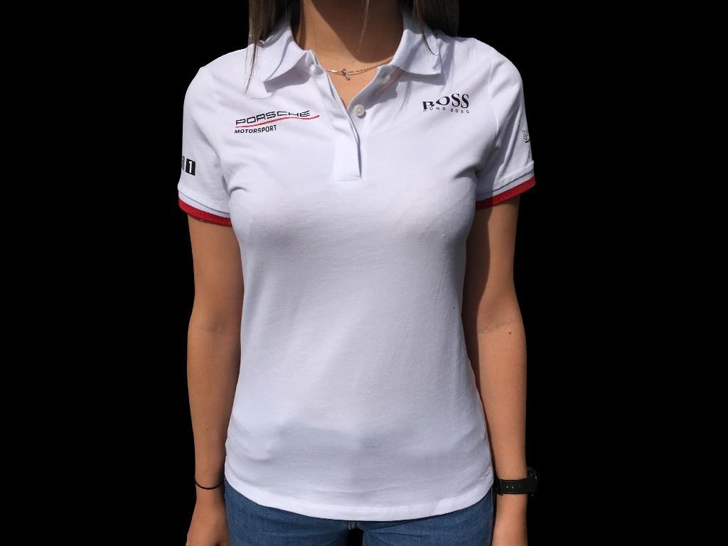 Porsche Motorsport Hugo Boss Polo shirt white WAP431L0MS - women ...