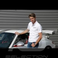 Porsche Motorsport Polo shirt white Porsche Design WAP801LFMS - men