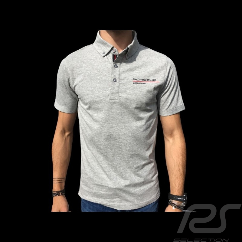 Porsche Motorsport Polo shirt grey Porsche Design WAP803LFMS - men