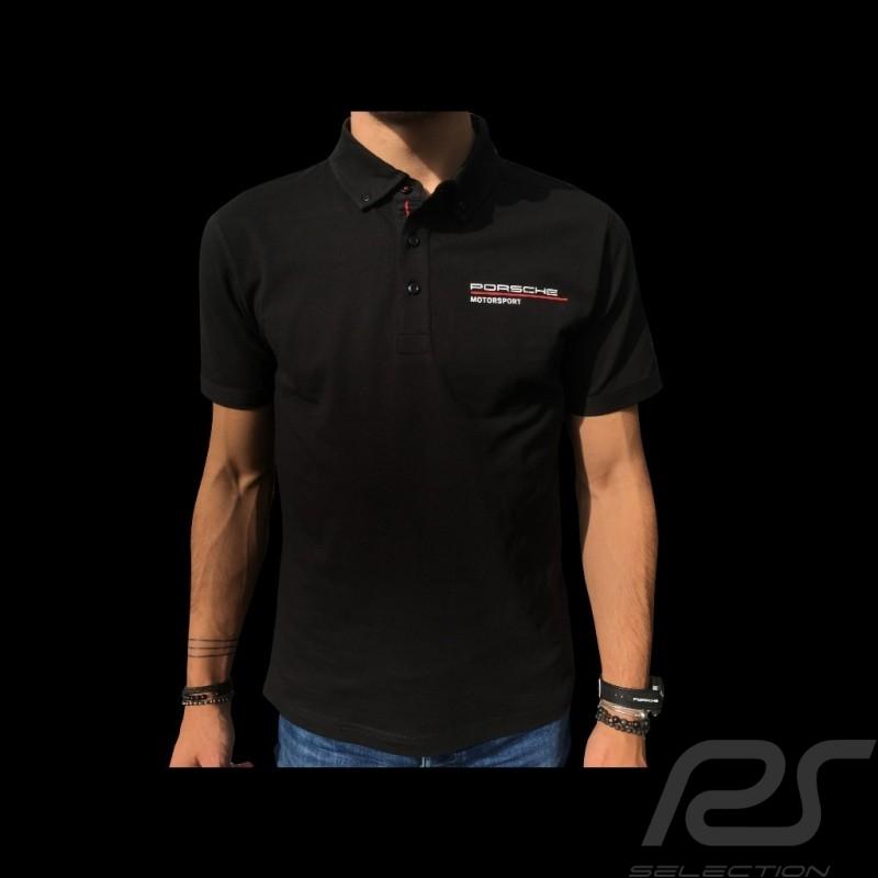 Porsche Motorsport Polo shirt black Porsche Design WAP802LFMS - men