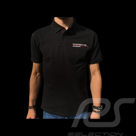 Porsche Motorsport Polo shirt black Porsche WAP802LFMS - men