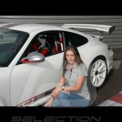 Porsche Motorsport Polo shirt grey Porsche Design WAP805LFMS - women