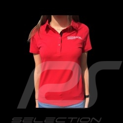 Polo Porsche Motorsport rouge red rot Porsche Design WAP804LFMS - femme