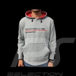 Sweatshirt à capuche Porsche Motorsport Collection hoodie gris grey grau / rouge red rotPorsche Design WAP816LFMS - homme