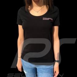 T-shirt Porsche Motorsport noir black schwarz Porsche WAP812LFMS - femme