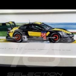Porsche 991 RSR Project One 24h le Mans 2018 wood frame black 15 x 35 cm Limited edition Uli Ehret - 798