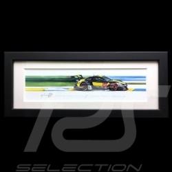 Porsche 991 RSR Project One 24h le Mans 2018 Schwarz Rahmen 15 x 35 cm Limitierte Auflage Uli Ehret - 798