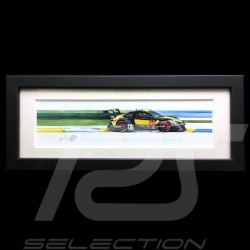 Porsche 991 RSR Project One 24h le Mans 2018 wood frame black 15 x 35 cm Limited edition Uli Ehret - 798