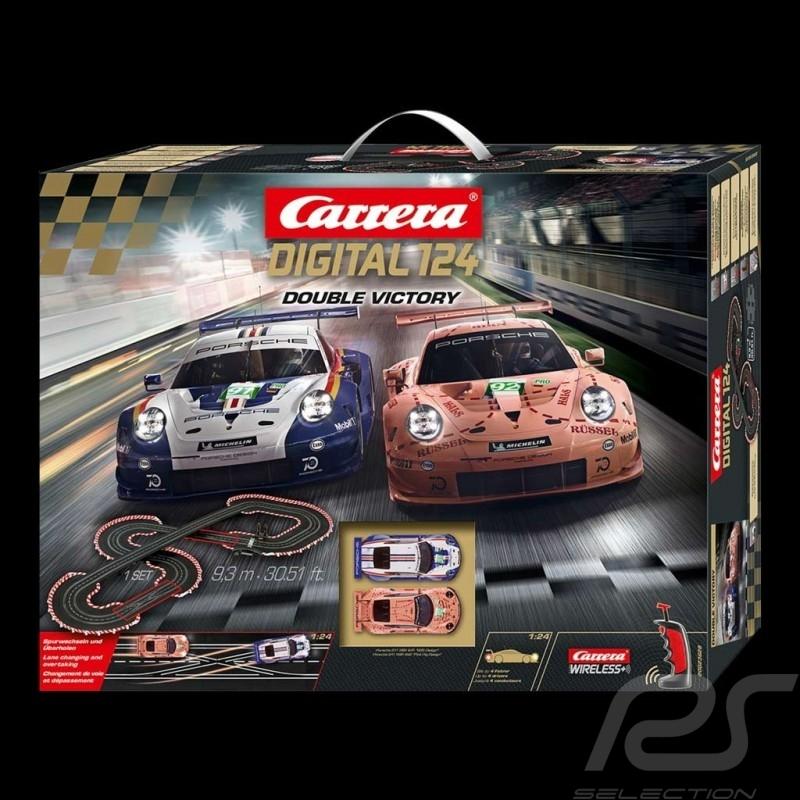 Carrera Digital Track Porsche 911 RSR 24h Le Mans 2018 Double Victory 1/24 Carrera 20023628