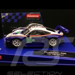 Slot car Porsche 911 RSR 24h Le Mans 2018 n° 91 Rothmans design 1/32 Carrera 20030891