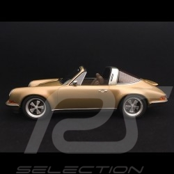 Porsche 911 type 964 Singer Targa 2015 or métallisé gold metallic 1/18 Cult Models CML106-2