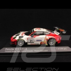 Porsche 911 GT3 R typ 991 n° 31 Frikadelli Racing Team Vainqueur VLN 3 Nürburgring 2018 1/43 Minichamps 413186791
