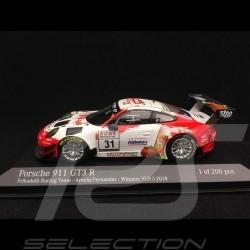Porsche 911 GT3 R type 991 n° 31 Frikadelli Racing Team Vainqueur Winner Sieger VLN 3 Nürburgring 2018 1/43 Minichamps 413186791