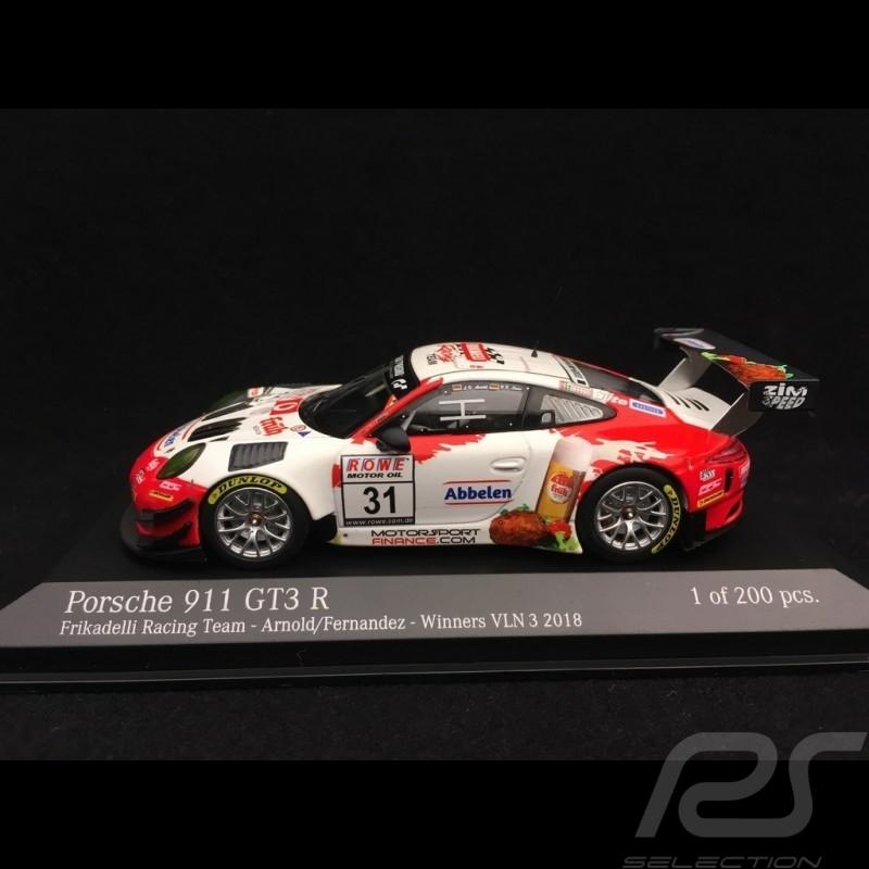Porsche 911 GT3 R type 991 n° 31 Frikadelli Racing Team Vainqueur VLN 3 Nürburgring 2018 1/43 Minichamps 413186791