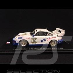 Porsche 911 Type 993 GT2 Vainqueur Winner Sieger 1000km Paris 1995 n° 70 1/43 Spark SF130