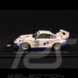 Porsche 911 Type 993 GT2 Winner 1000km Paris 1995 n° 70 1/43 Spark SF130