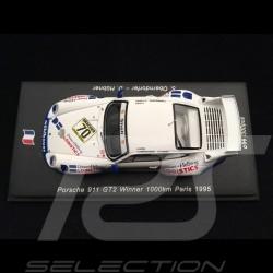 Porsche 911 Type 993 GT2 Winner 1000km Paris 1995 n° 70 1/43 Spark SF130
