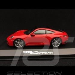 Porsche 911 type 992 Carrera 2S Coupé 2019 rouge indien Guards red Indischrot 1/43 Minichamps WAP0201740K
