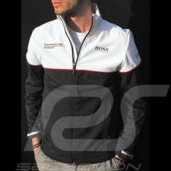 Veste Hugo Boss Porsche Motorsport Softshell noir / blanc Porsche Design WAP435LMS - homme jacket Jacke windbreaker