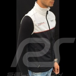 Porsche Motorsport Hugo Boss Sleeveless Softshell Jacket black / white Porsche Design WAP437LMS - unisex