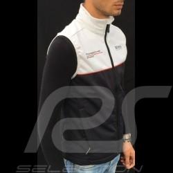 Veste Porsche Hugo Boss Motorsport Softshell sans manches noir / blanc WAP437LOMS Jacket  Jacke