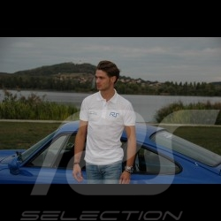 Men's white polo RS Club