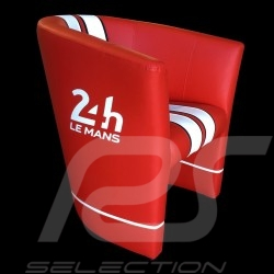 Fauteuil cabriolet Racing Inside 24H Le Mans Rouge / blanc Tub chair Tubstuhl