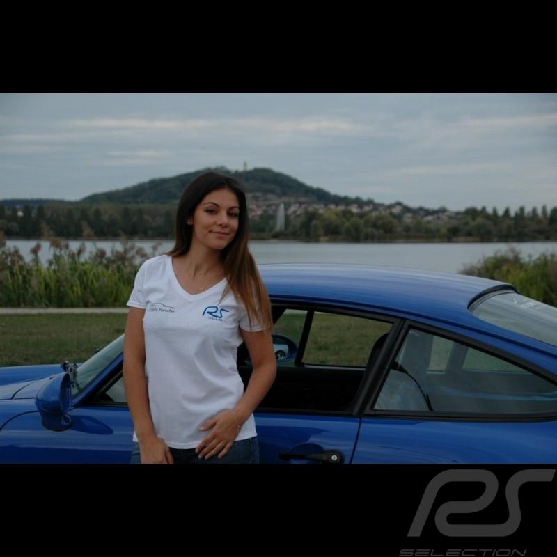 T-shirt femme col v blanc RS Club