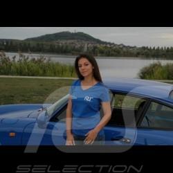 Damen V-Ausschnitt t-shirt königsblau RS Club
