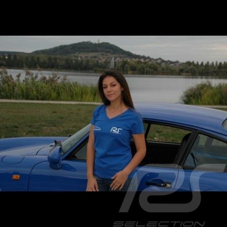 Lady's v-neck royal blue t-shirt RS Club