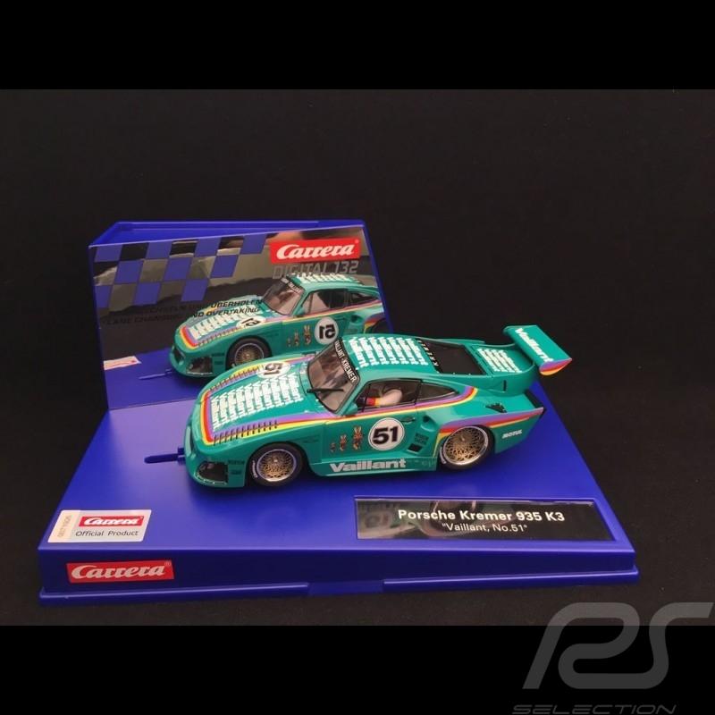 Slot car Porsche 935 K3 DRM Nürnburgring 1977 n° 51 Vaillant 1/32 Carrera 20030898