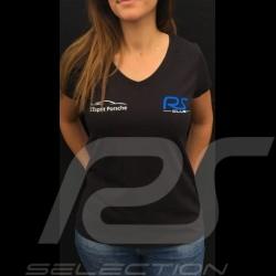 T-shirt femme col v noir RS Club