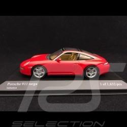 Porsche 911 targa type 997 2006 rouge Indien guards red indschrot 1/43 Minichamps 400066160